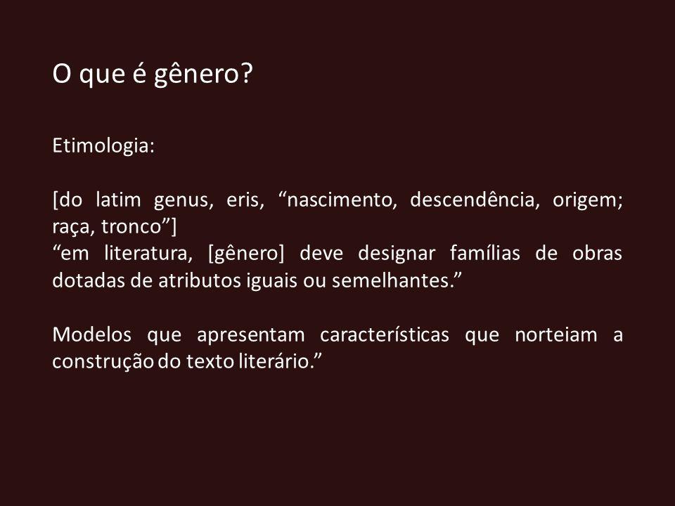 O que é gênero Etimologia: