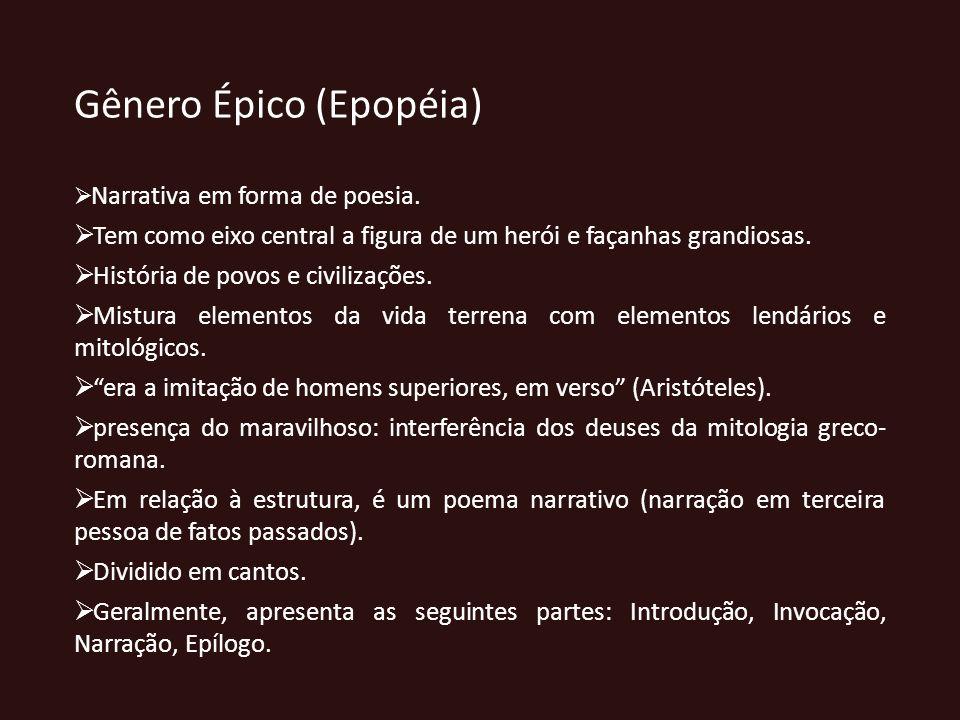 Gênero Épico (Epopéia)
