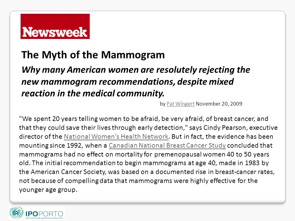 The Myth of the Mammogram