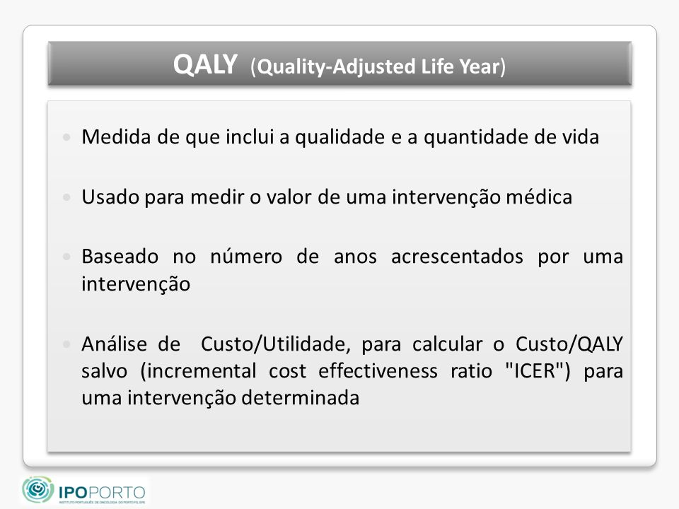 QALY (Quality-Adjusted Life Year)