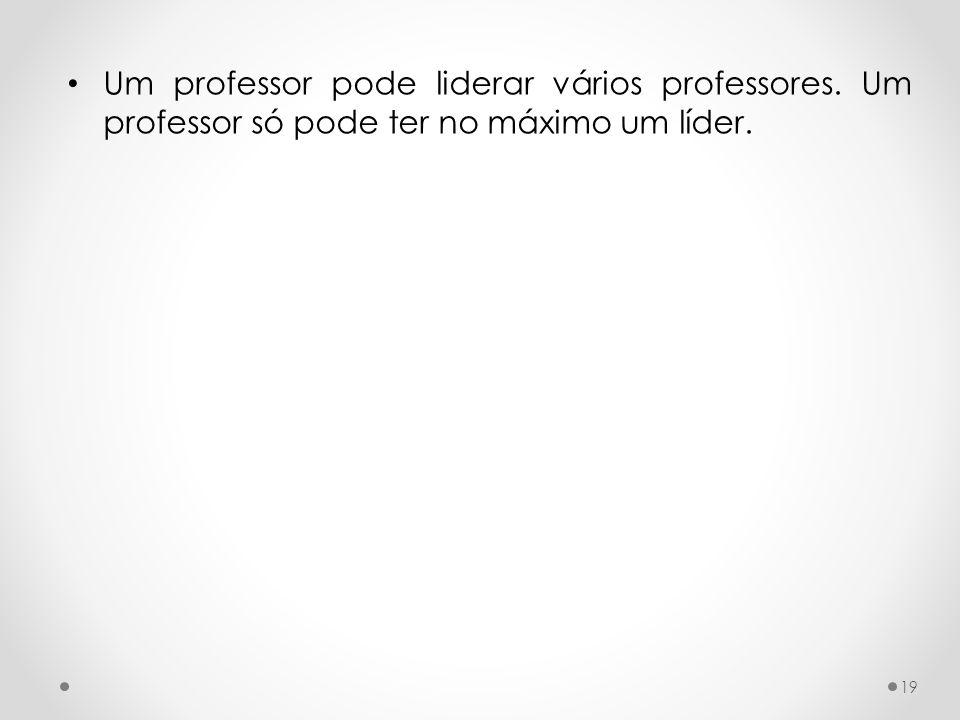 Um professor pode liderar vários professores