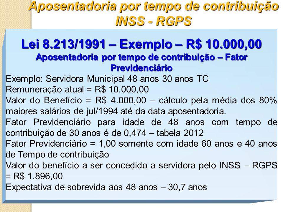 Aposentadoria por tempo de contribuição INSS - RGPS