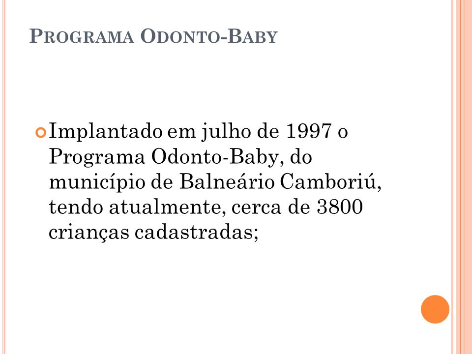 Programa Odonto-Baby