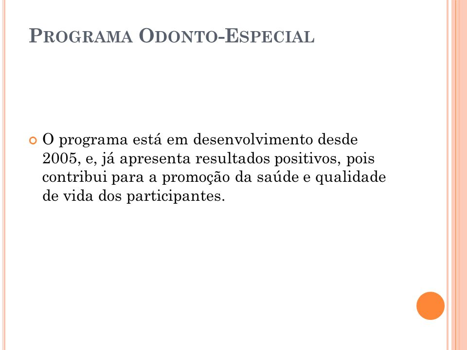 Programa Odonto-Especial