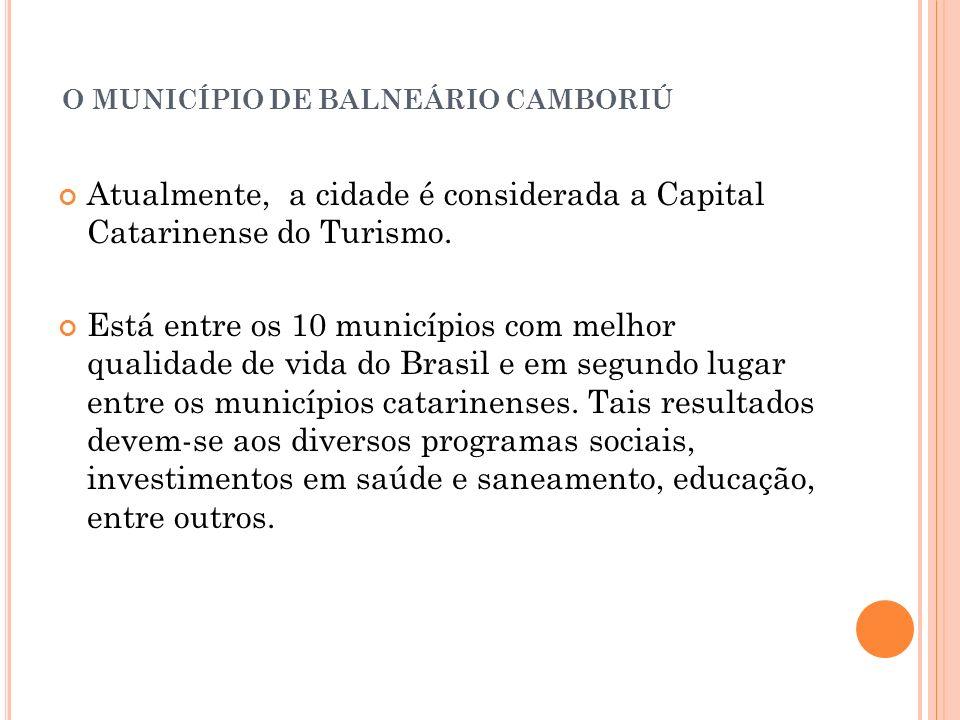 O MUNICÍPIO DE BALNEÁRIO CAMBORIÚ