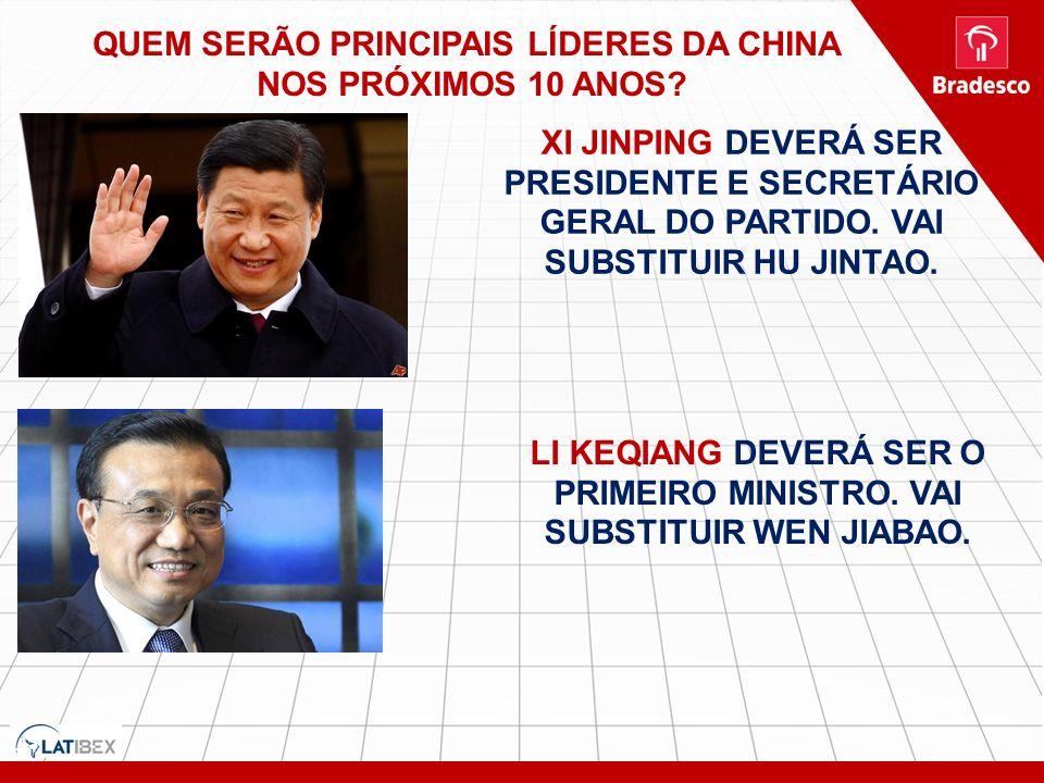 QUEM SERÃO PRINCIPAIS LÍDERES DA CHINA NOS PRÓXIMOS 10 ANOS