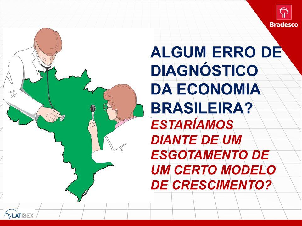 ALGUM ERRO DE DIAGNÓSTICO DA ECONOMIA BRASILEIRA