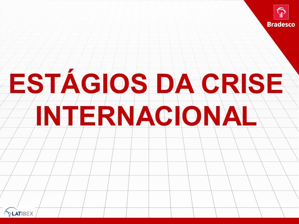 ESTÁGIOS DA CRISE INTERNACIONAL