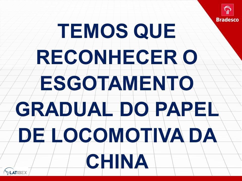 TEMOS QUE RECONHECER O ESGOTAMENTO GRADUAL DO PAPEL DE LOCOMOTIVA DA CHINA