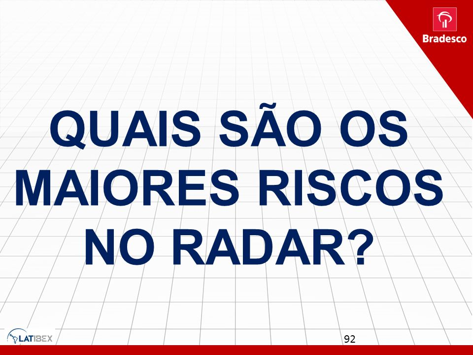 Quais são os maiores riscos no radar