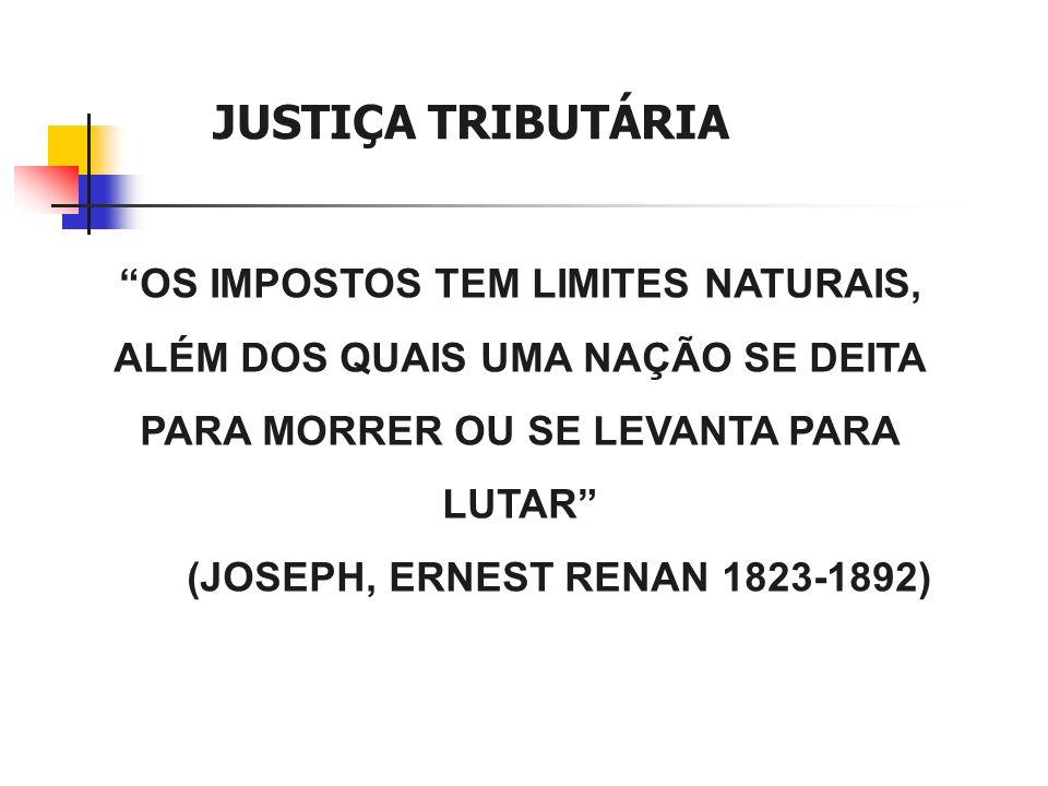JUSTIÇA TRIBUTÁRIA OS IMPOSTOS TEM LIMITES NATURAIS,