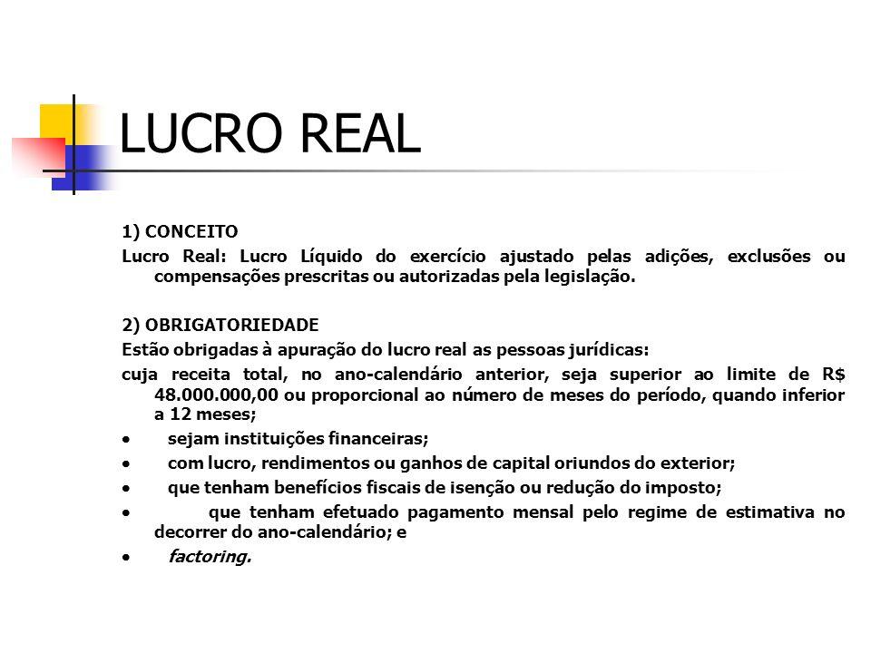 LUCRO REAL 1) CONCEITO.