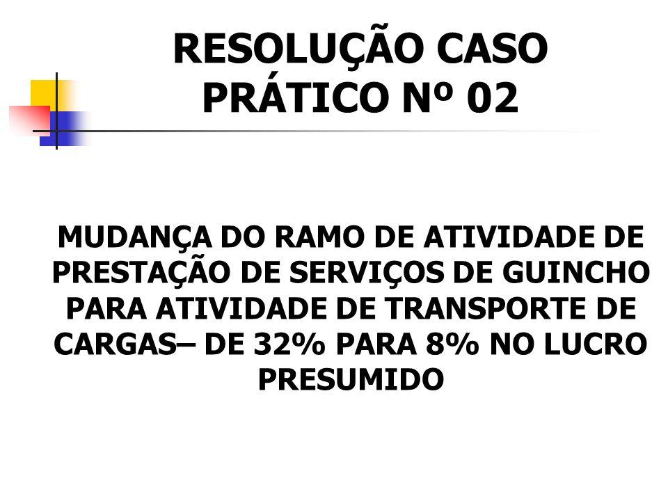 RESOLUÇÃO CASO PRÁTICO Nº 02