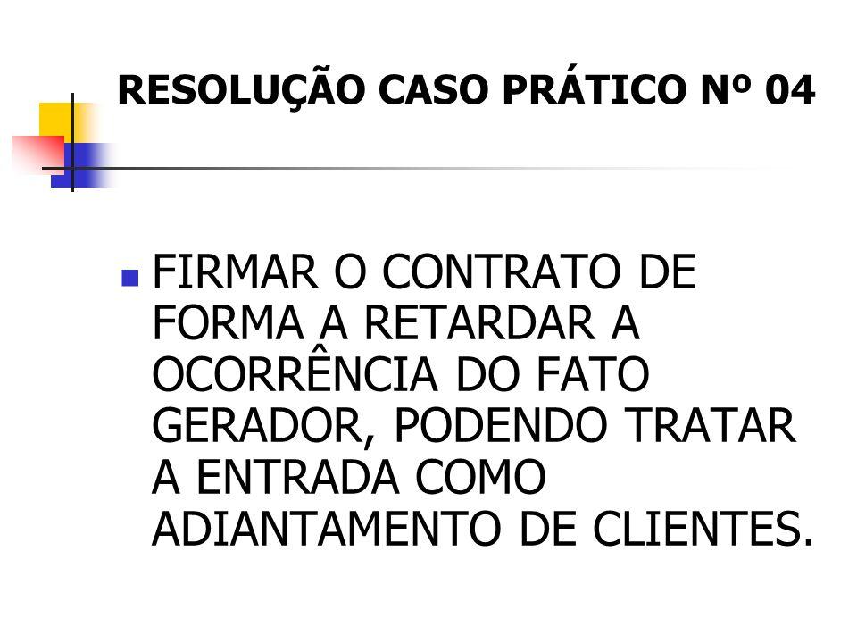RESOLUÇÃO CASO PRÁTICO Nº 04