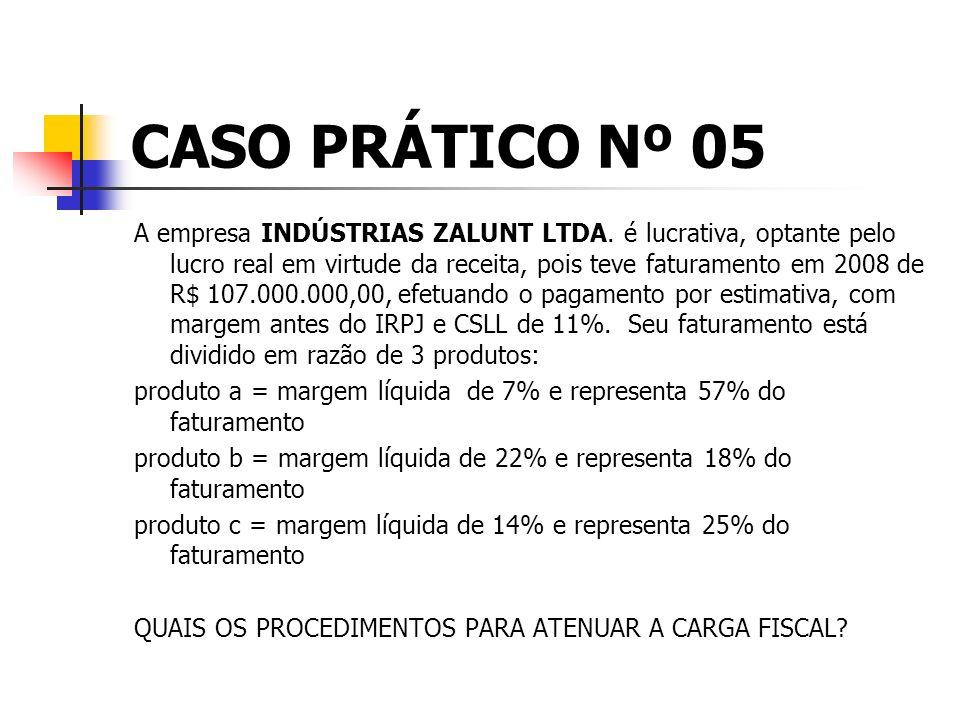 CASO PRÁTICO Nº 05