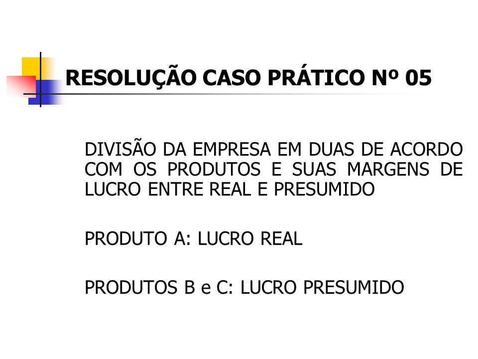 RESOLUÇÃO CASO PRÁTICO Nº 05