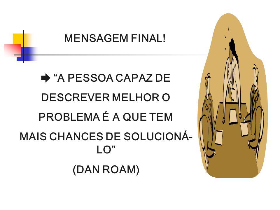 MAIS CHANCES DE SOLUCIONÁ-LO