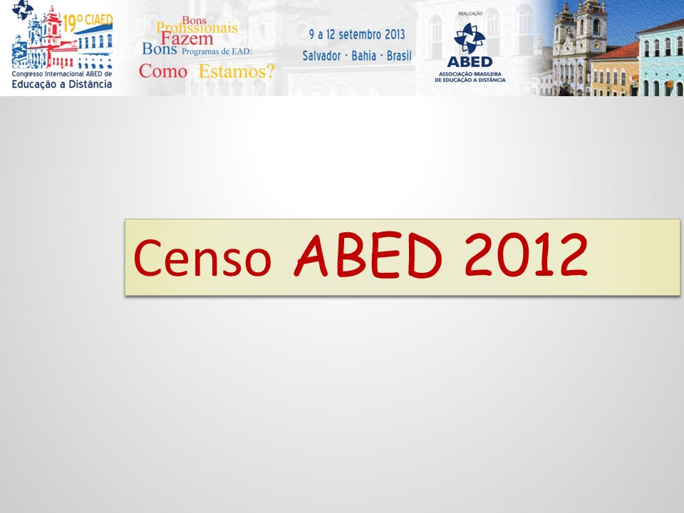 Censo ABED 2012