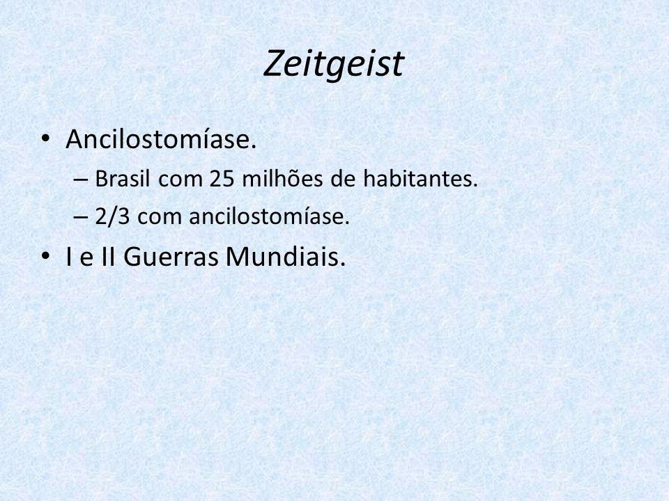 Zeitgeist Ancilostomíase. I e II Guerras Mundiais.
