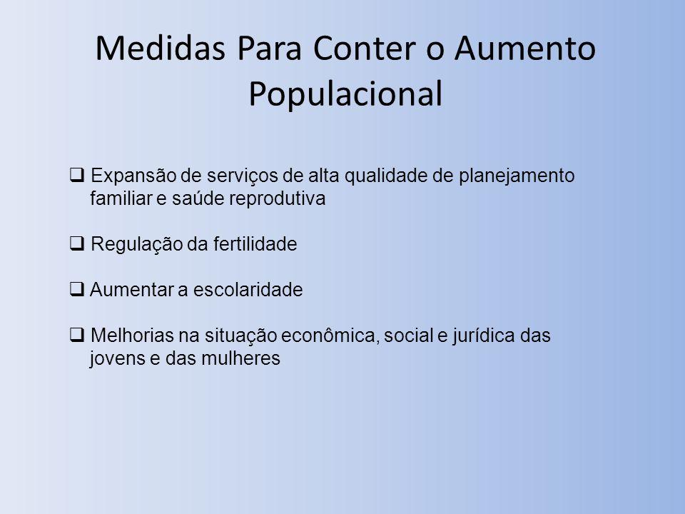 Medidas Para Conter o Aumento Populacional