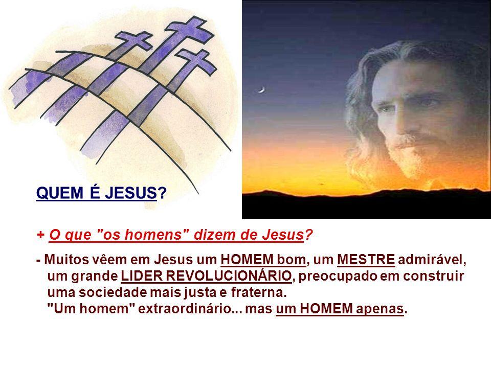 QUEM É JESUS + O que os homens dizem de Jesus