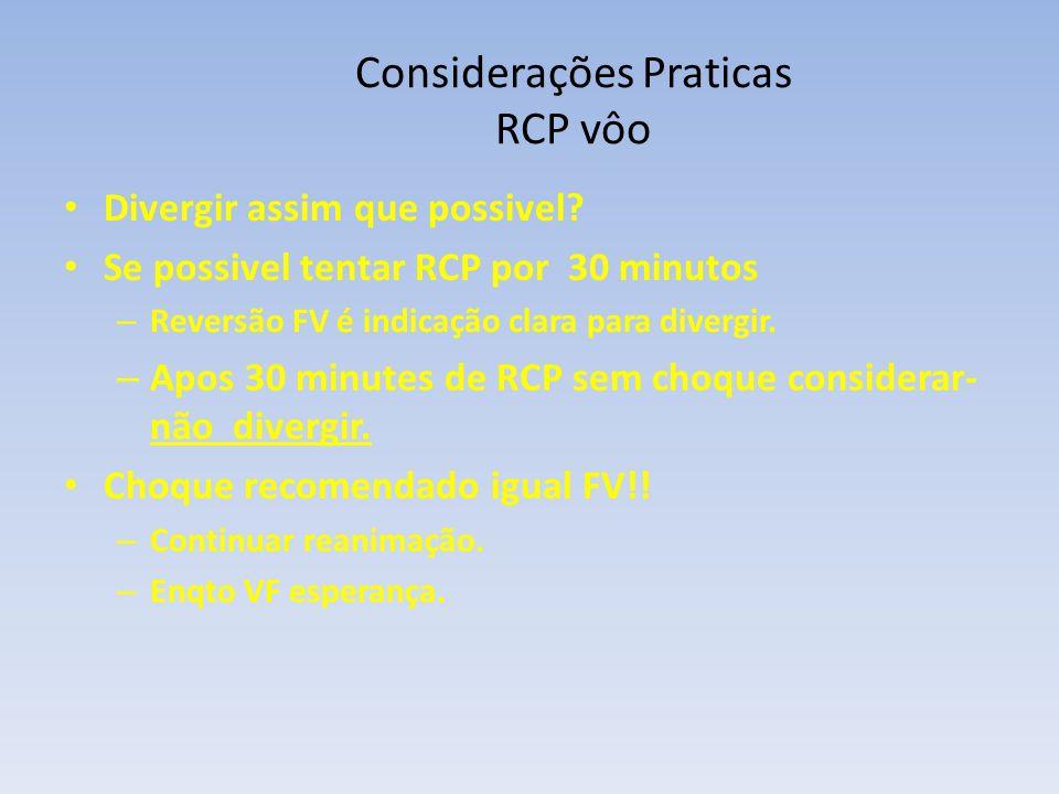 Considerações Praticas RCP vôo