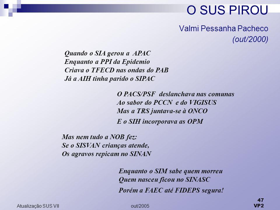 O SUS PIROU Valmi Pessanha Pacheco (out/2000)