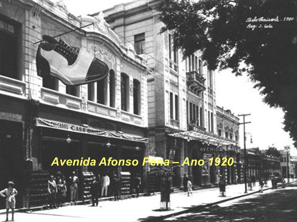 Avenida Afonso Pena – Ano 1920