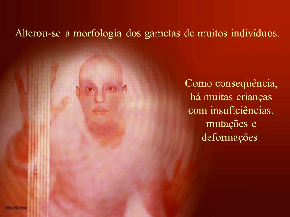 Alterou-se a morfologia dos gametas de muitos indivíduos.