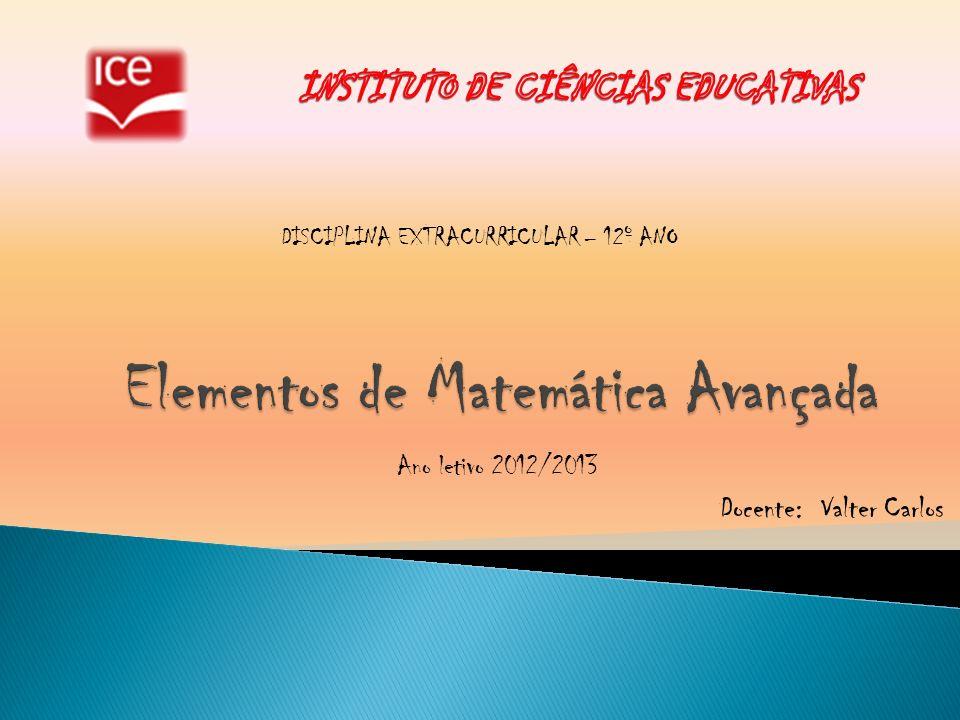 Elementos de Matemática Avançada