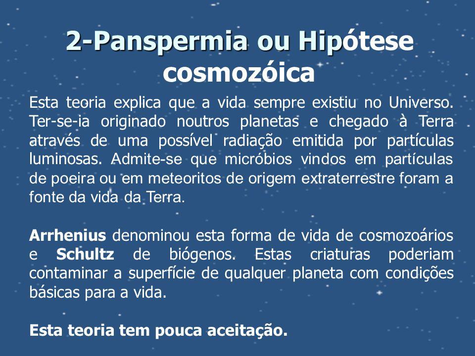 2-Panspermia ou Hipótese cosmozóica
