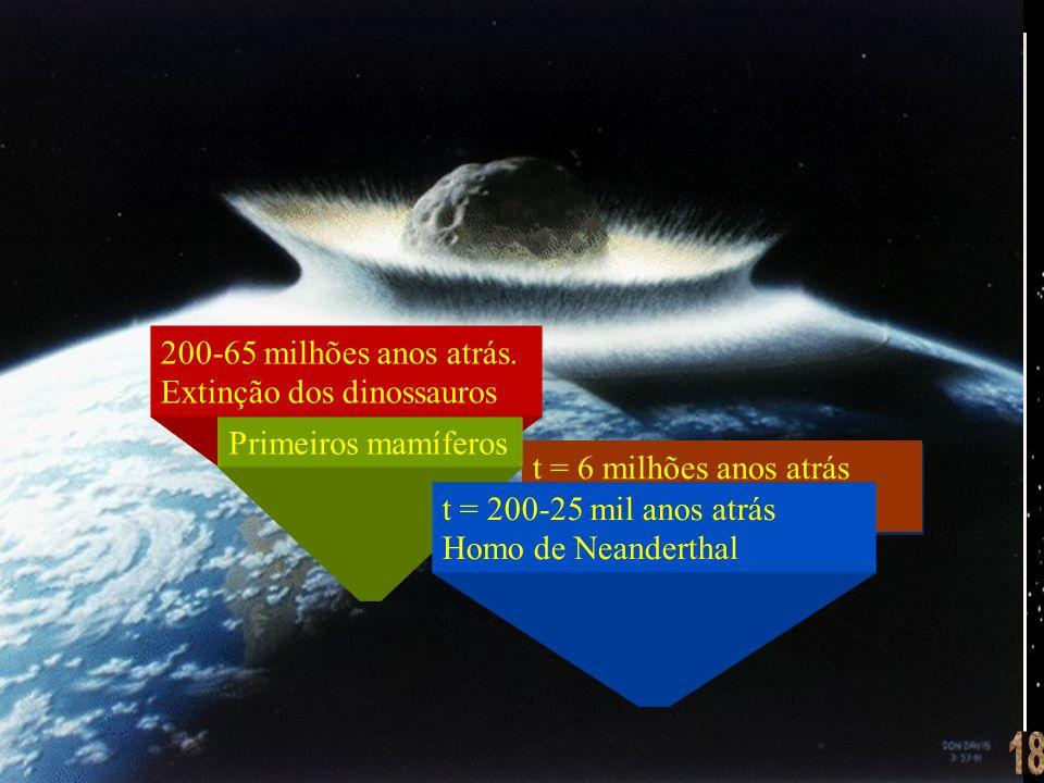 18 200-65 milhões anos atrás. Extinção dos dinossauros