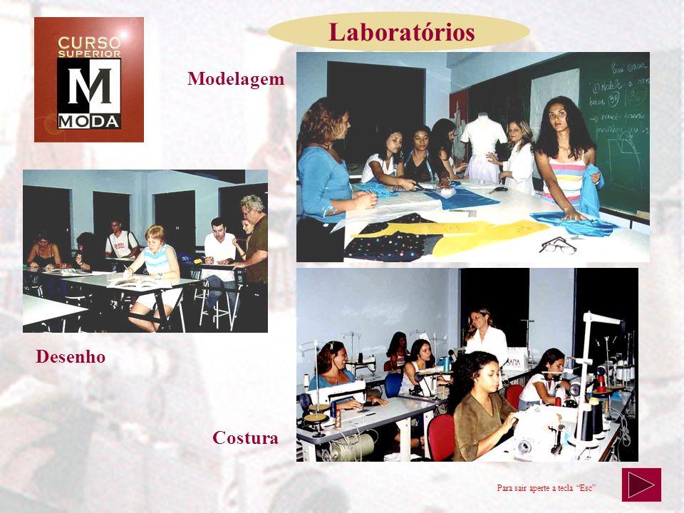 Laboratórios Modelagem Desenho Sala de Aula Costura