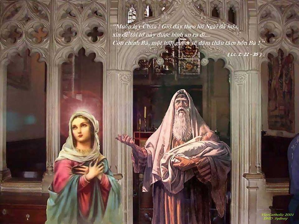 + Simeão toma o menino nos braços e o oferece a todos os homens...