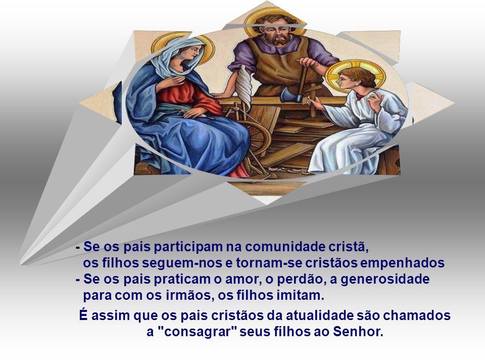 - Se os pais participam na comunidade cristã,
