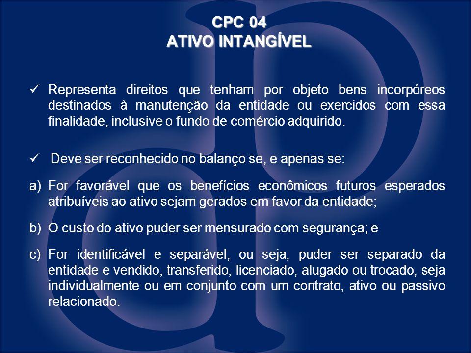 CPC 04 ATIVO INTANGÍVEL