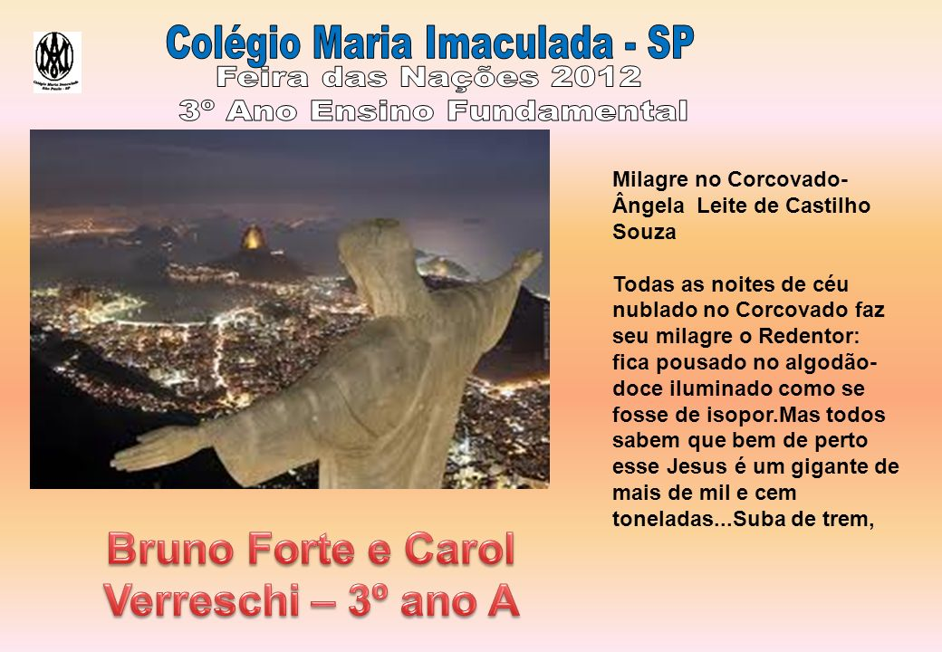 Bruno Forte e Carol Verreschi – 3º ano A