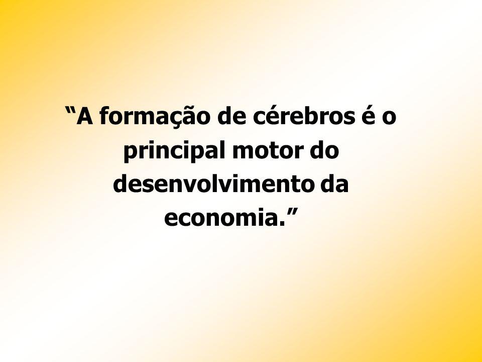 A formação de cérebros é o principal motor do desenvolvimento da economia.