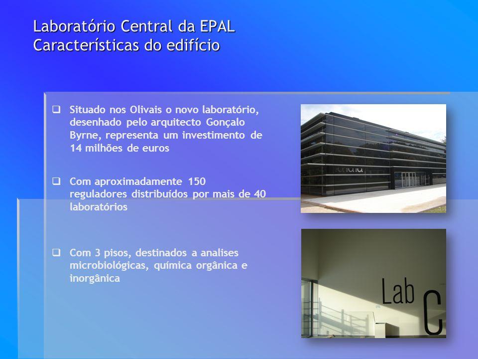 Laboratório Central da EPAL Características do edifício