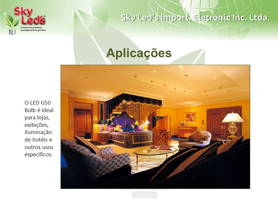 Aplicações O LED G50 Bulb é ideal para lojas, exibições, iluminação de hotéis e outros usos específicos.