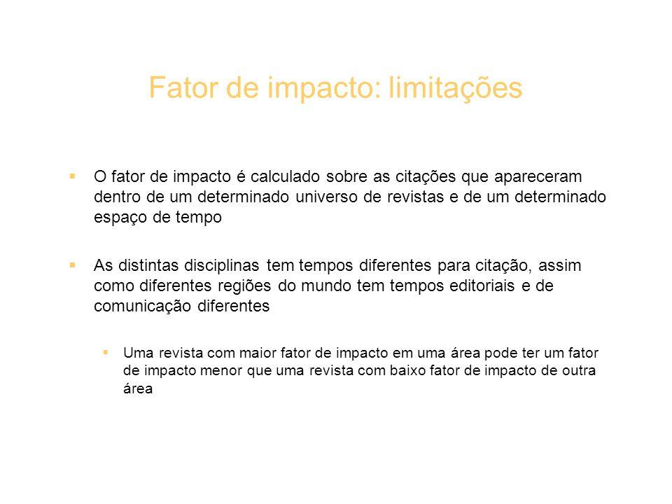 Fator de impacto: limitações