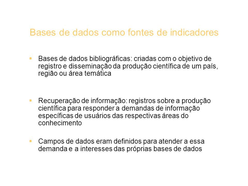 Bases de dados como fontes de indicadores