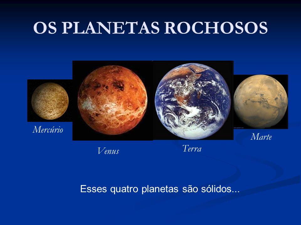 OS PLANETAS ROCHOSOS Mercúrio Marte Terra Venus