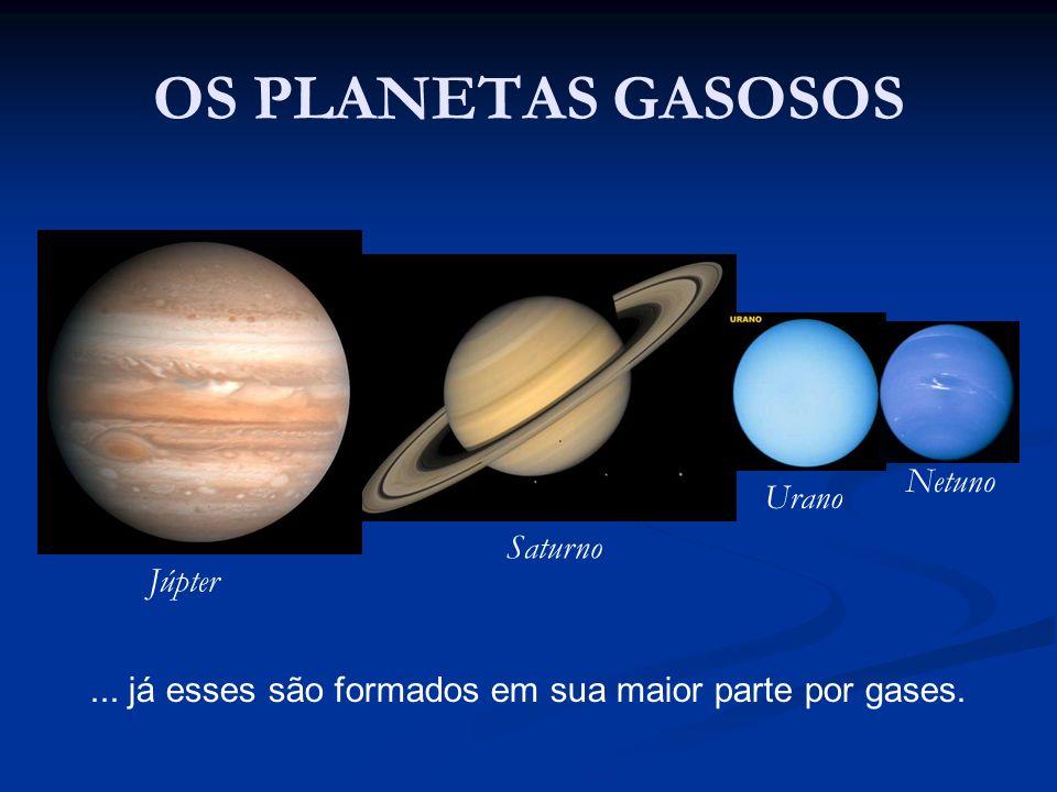 OS PLANETAS GASOSOS Netuno Urano Saturno Júpter