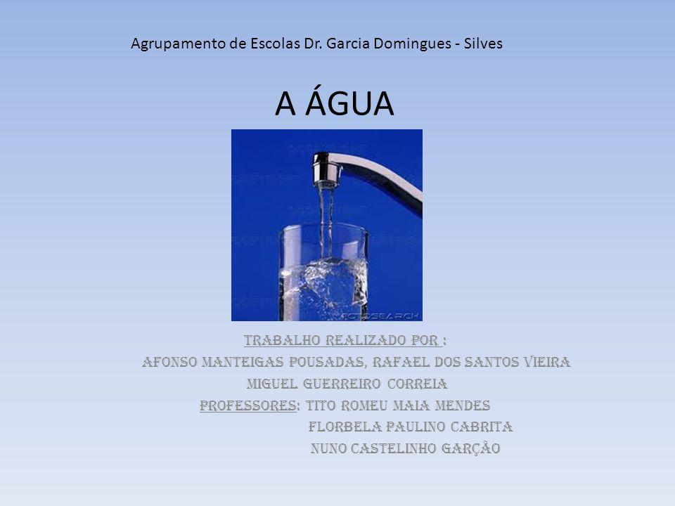 A ÁGUA Agrupamento de Escolas Dr. Garcia Domingues - Silves