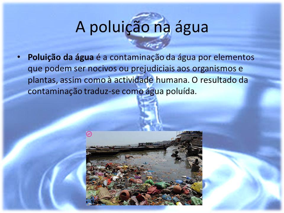 A poluição na água