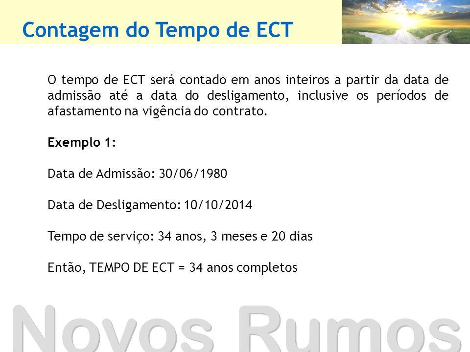 Novos Rumos Contagem do Tempo de ECT