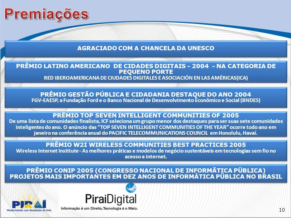 Premiações AGRACIADO COM A CHANCELA DA UNESCO