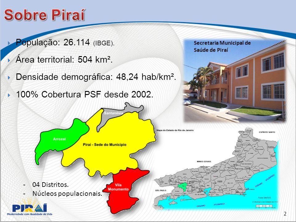 Sobre Piraí População: 26.114 (IBGE). Área territorial: 504 km².