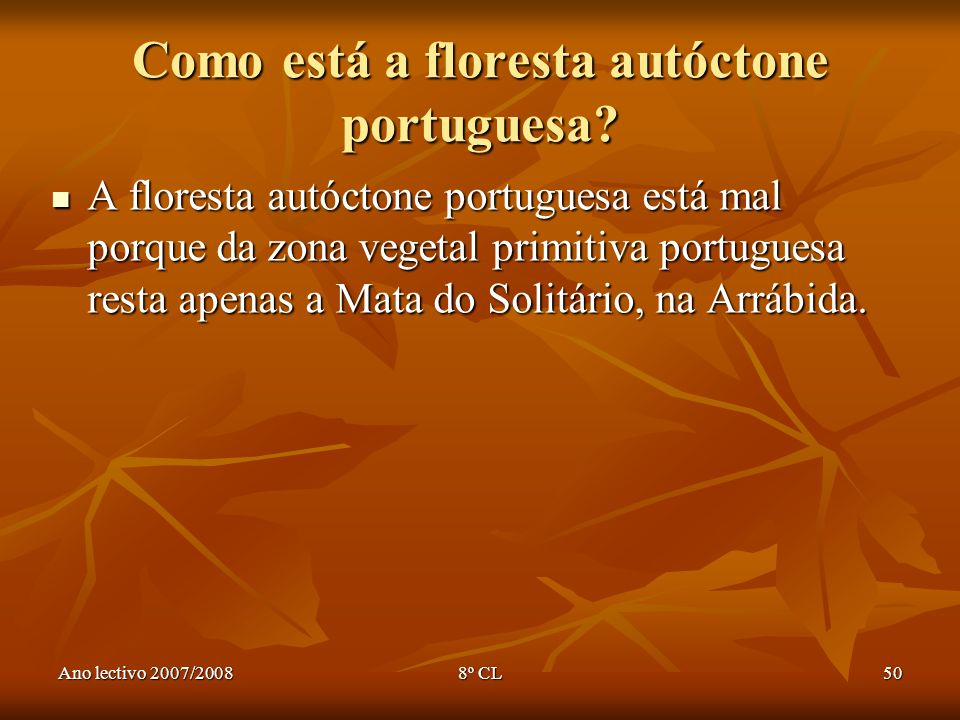 Como está a floresta autóctone portuguesa